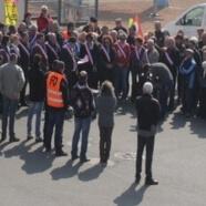 Manifestation contre la fermeture d'un guichet en Côte d'Or, JT France3 Bourgogne avec l'interview d'un militant FO