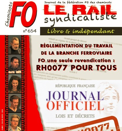 En avant première la couverture du Rail syndicaliste 654