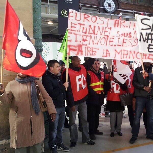 Manifestation des salariés de Facilit'Rail suite à l'annonce de la suppression de 130 postes!