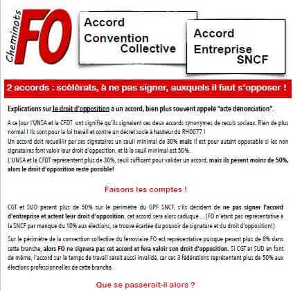 Accord de branche sur le contrat de travail et accord d'entreprise SNCF: deux accords scélérats auxquels il faut s'opposer!