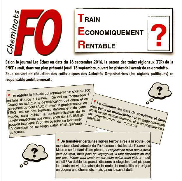 TER: TRAIN ECONOMIQUEMENT RENTABLE ?