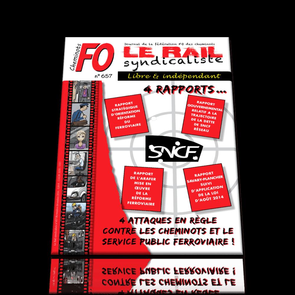 Le Rail Syndicaliste numéro 657 NOV/DÉC 2016