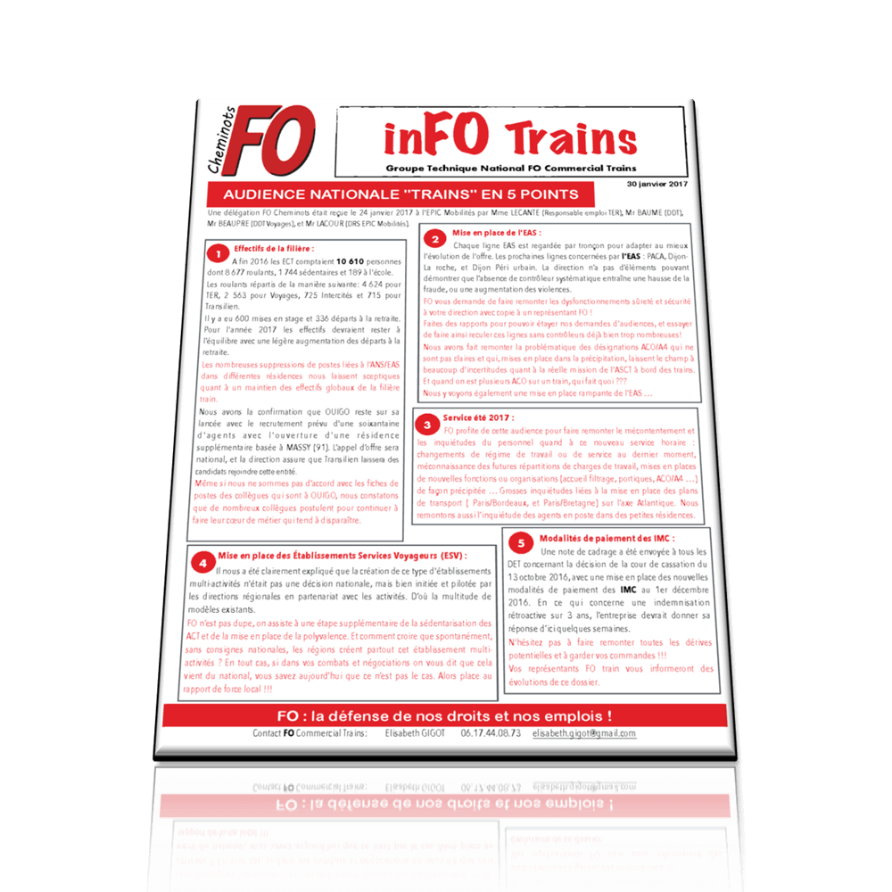InFO Trains: AUDIENCE NATIONALE « TRAINS » EN 5 POINTS
