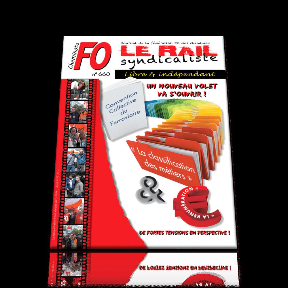 Le Rail Syndicaliste numéro 660 MAI JUIN 2017
