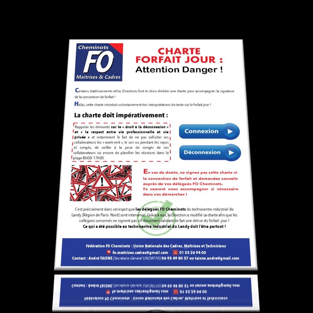 Charte Forfait Jour, Attention Danger !
