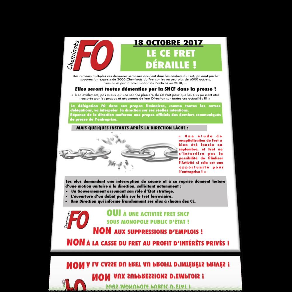 LE CE FRET DÉRAILLE ! 18 octobre 2017