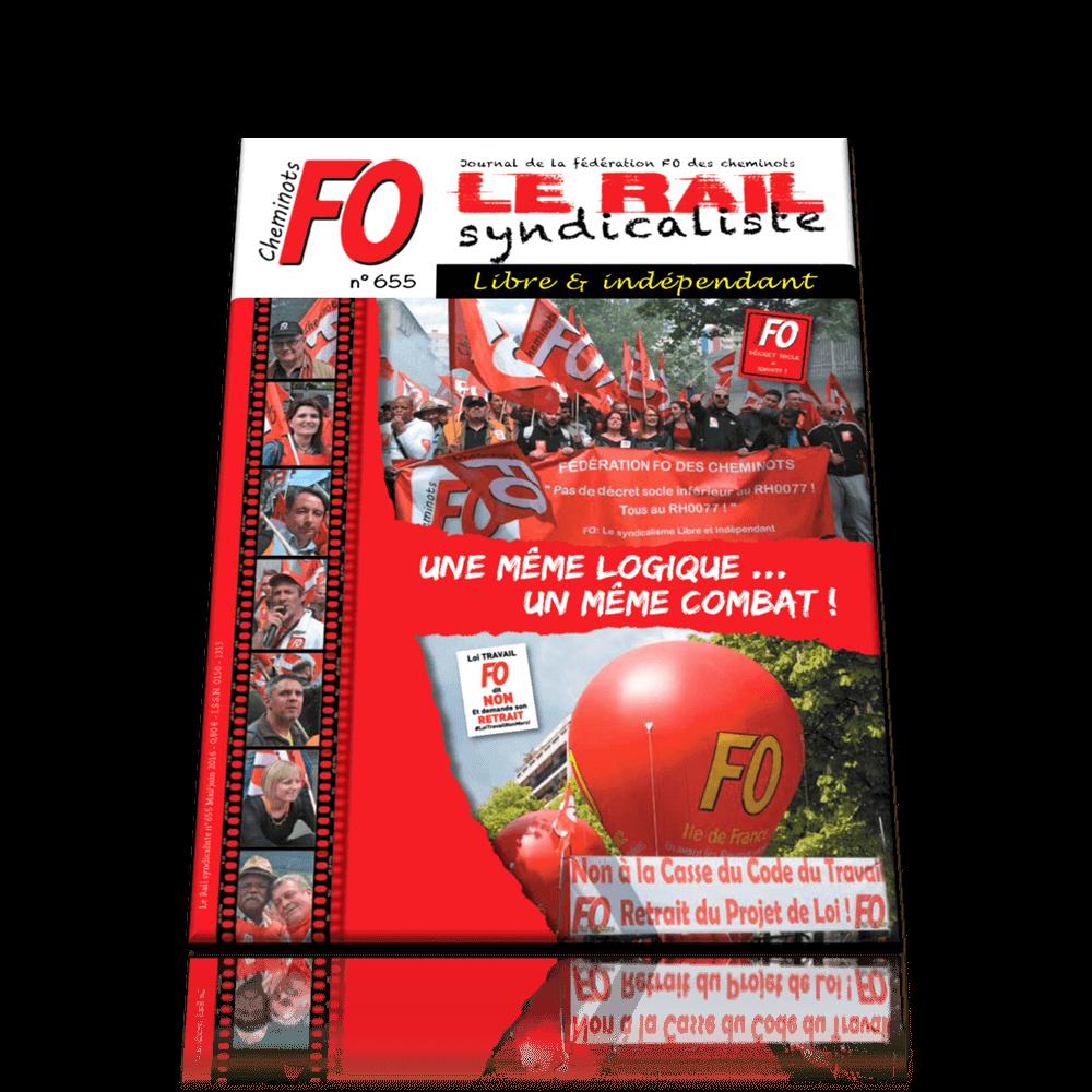 Le Rail Syndicaliste numéro 655 MAI JUIN 2016