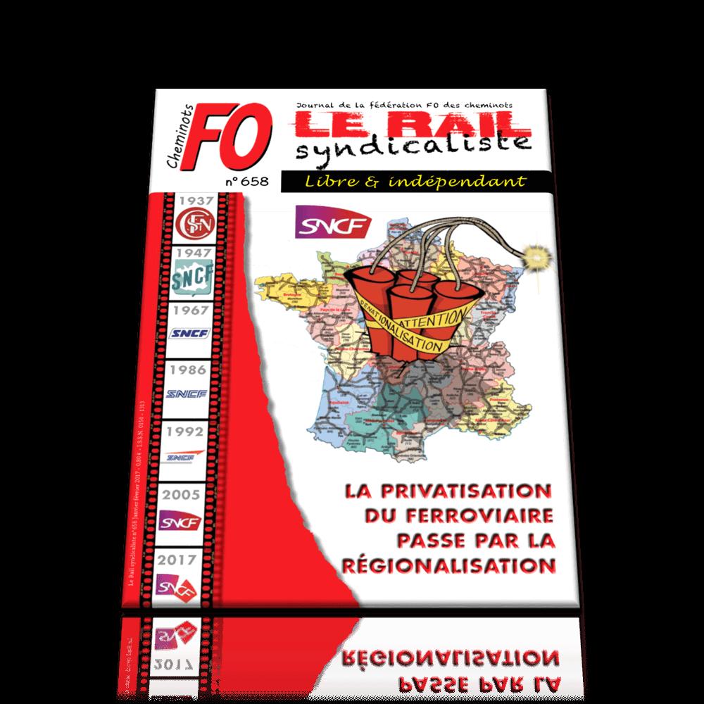 Le Rail Syndicaliste numéro 658 JANVIER FÉVRIER 2017