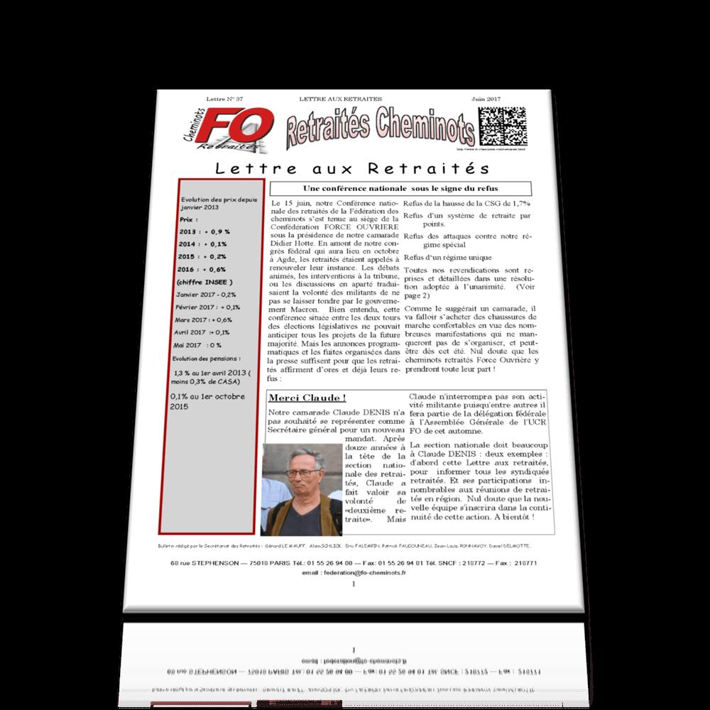 Lettre aux retraités N°37 de juin 2017