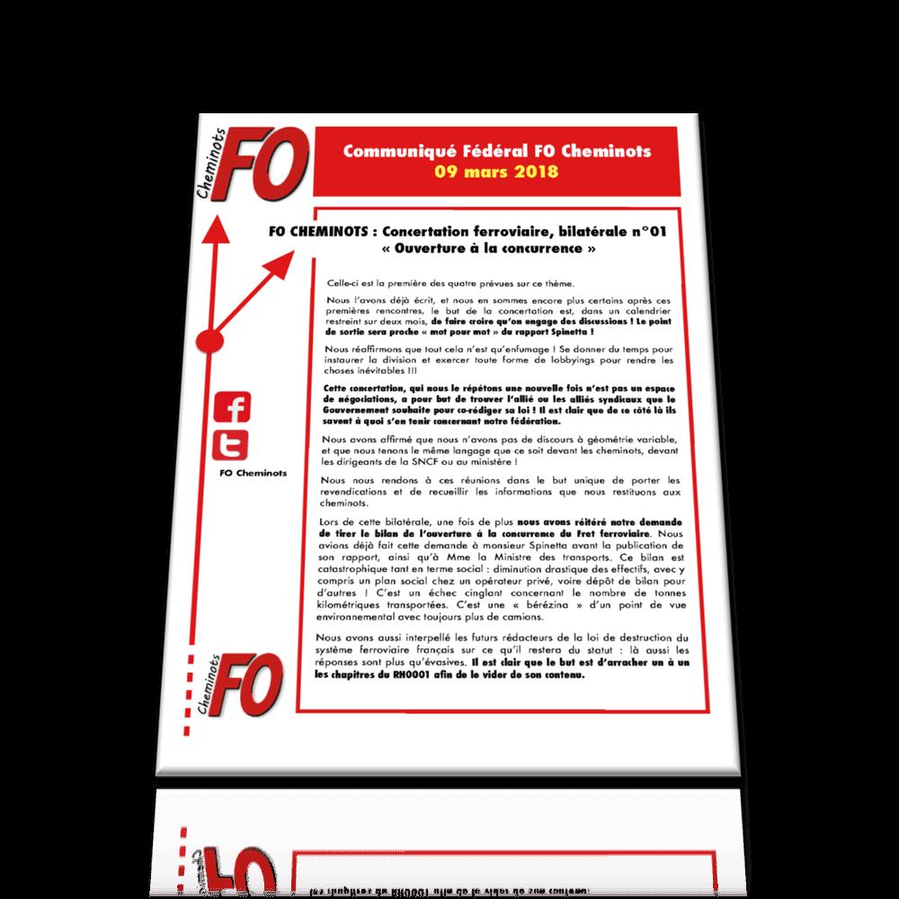 Communiqué FO Cheminots du 9 mars 2018