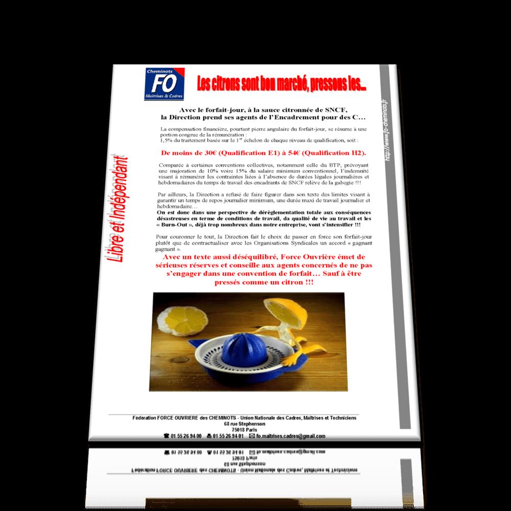 Tract 2 UNCMT – Forfait jours janvier 2017