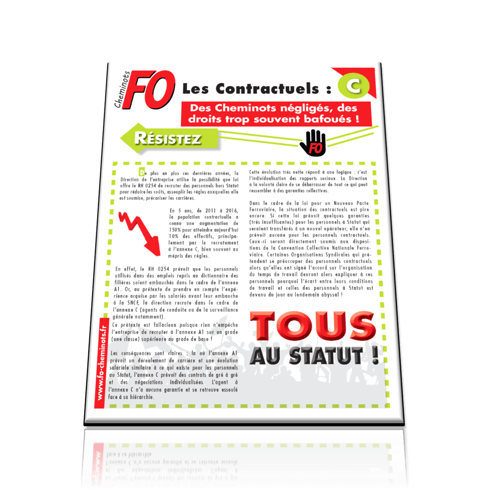 Les contractuels – Tract C