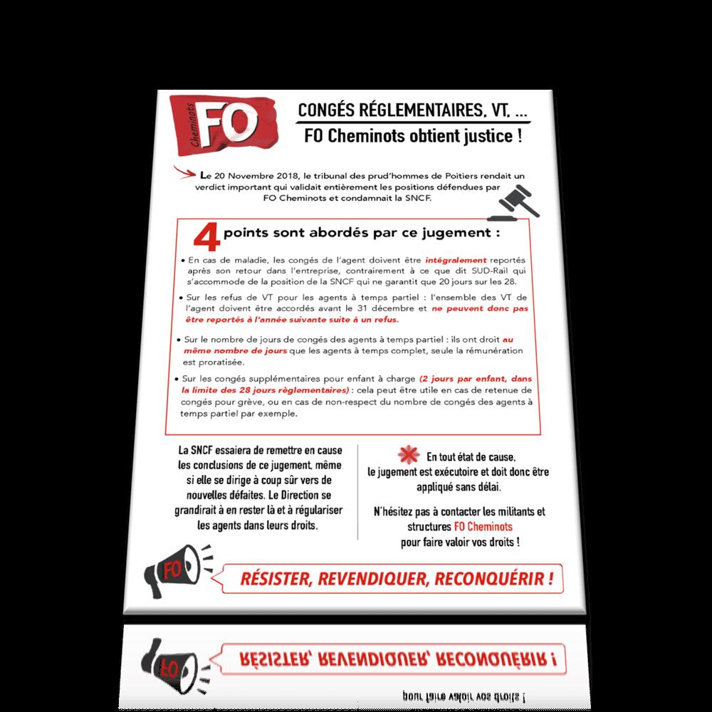 Tract Congés, VT du 9 janvier 2019