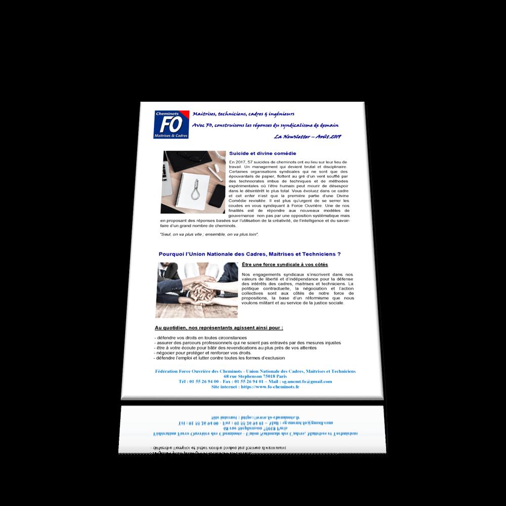 Newsletter UNCMT – Août 2019