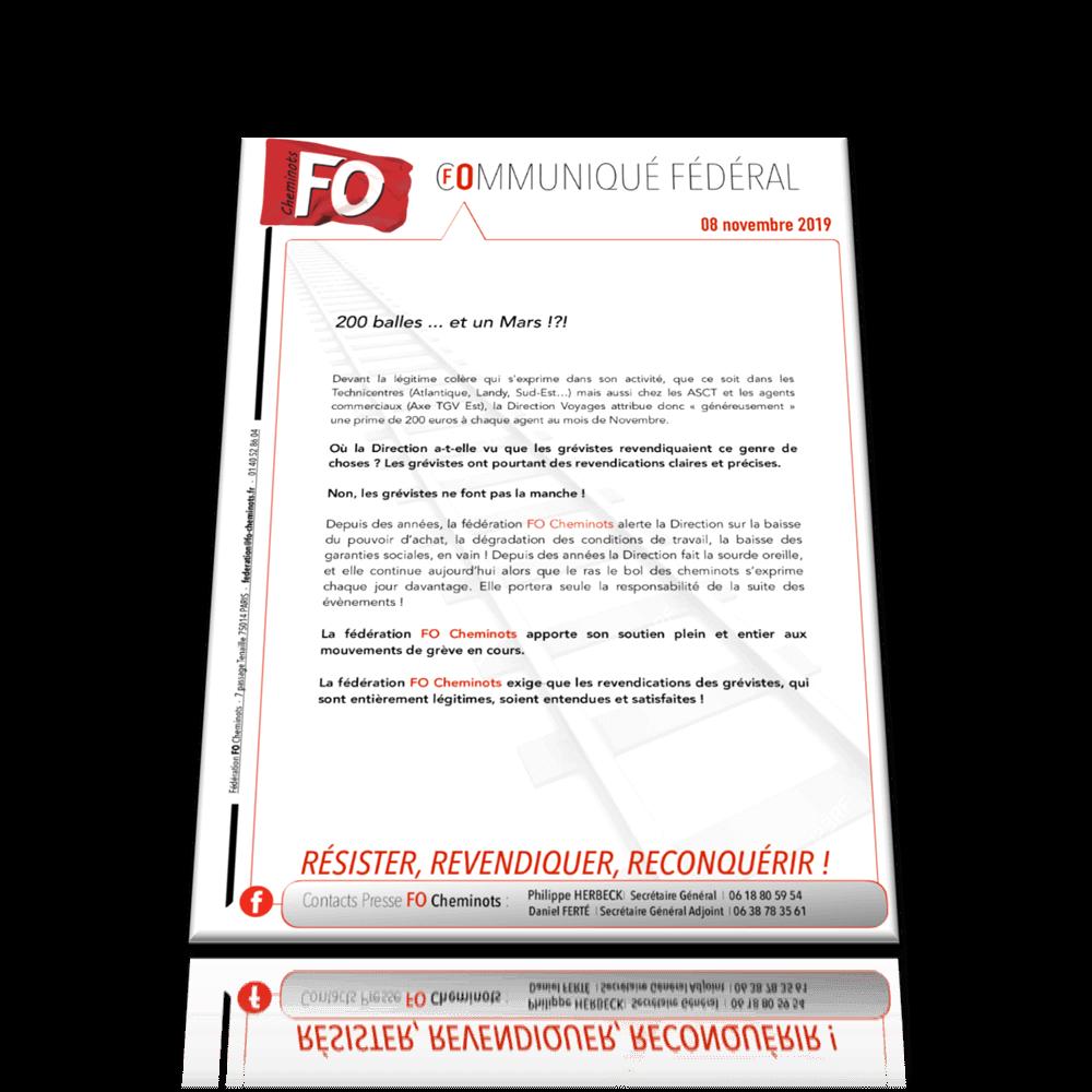 La fédération FO Cheminots exige que les revendications des cheminots soient entendues et satisfaites.