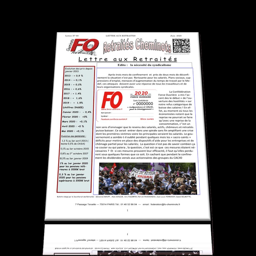 Lettre aux Retraités n° 60 de juin 2020