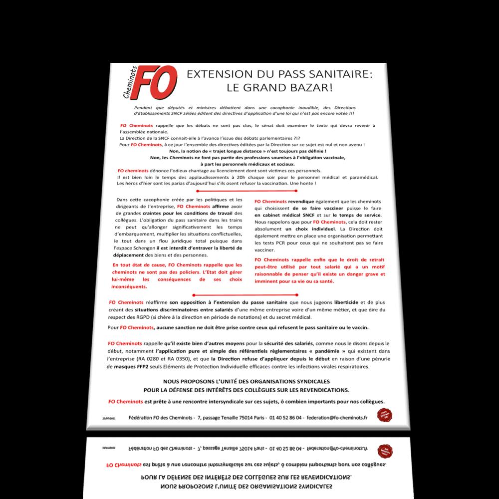 Extension du Pass Sanitaire : LE GRAND BAZAR !
