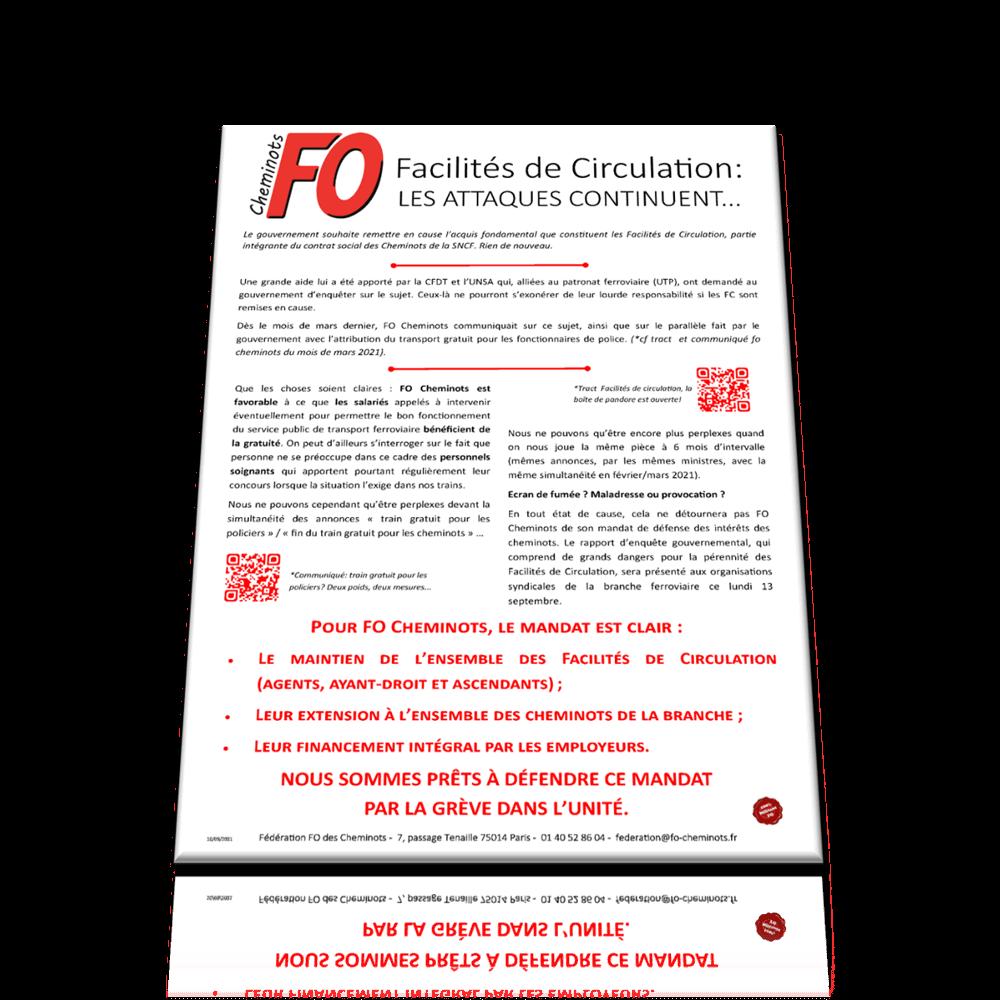 Tract Fédéral – Facilités de Circulation: les attaquent continuent…